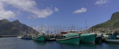 Kapstadt - Der Fischereihafen in Hout Bay auf dem Rückweg nach Kapstadt