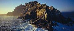 Kapstadt - Die steilen Felsen des Cape Point am Kap der Guten Hoffnung